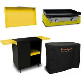 Pack Plancha Rainbow Jaune  Chariot + couvercle jaune photo